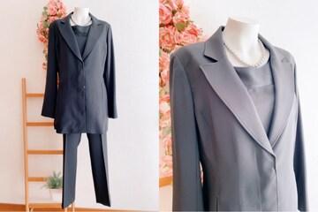 H40*17号 洗えるジャケット トップス パンツ3点スーツ