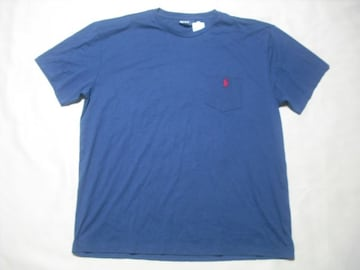18 男 POLO RALPH LAUREN ラルフローレン 紺 半袖Tシャツ L