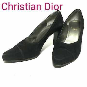 正規 Dior クリスチャン ディオール  レザー パンプス ブラック
