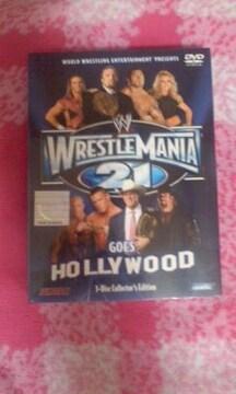 新品 美品 WWE【レッスルマニア21】三枚組DVD(定価9240円)アメリカンプロレス