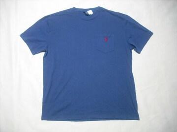 08 男 POLO RALPH LAUREN ラルフローレン 紺 半袖Tシャツ M