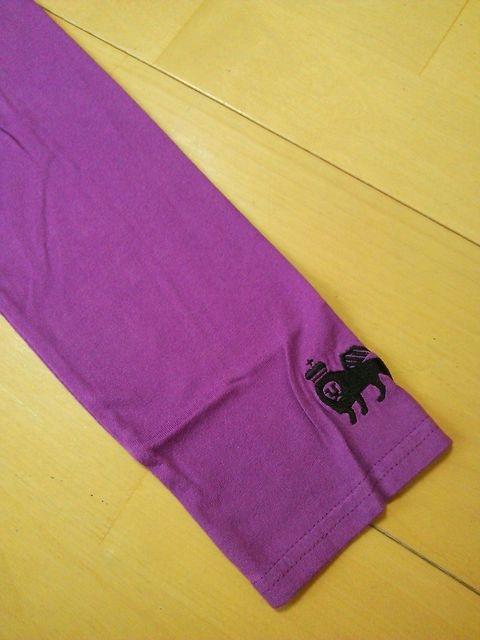 新品スーパーマンラグランロンT紫LベビドBABYDOLLベビードール < ブランドの