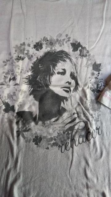 ☆rehacer/レアセル 七分袖Tシャツ/カットソー L 限定特殊素材 < ブランドの
