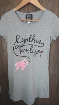 新品★CynthiaRowley★Tシャツ★プードル★薔薇★グレー★シンシアローリー★