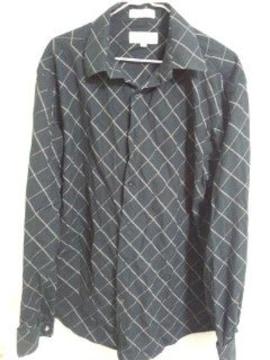 88 斜めラインシャツ カフスボタン付