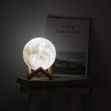 月ライト 月のランプ16色 4照明モード 無段階調光