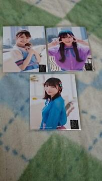 HKT48早送りカレンダー特典写真3枚セット
