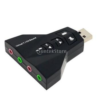 ☆仮想7.1 chのUSB 2.0の3Dオーディオサウンドカード