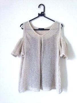 かぎ編み オフショルダー ブラックキャミソール セット Lサイズ