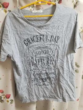 大きいサイズ☆グレーTシャツ★3L