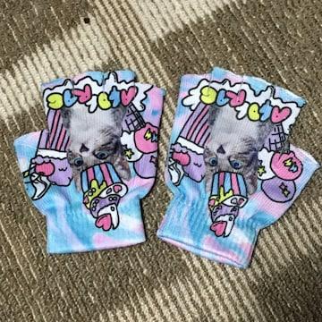 ACDCRAG・スイーツ猫柄指無し手袋