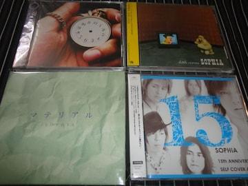 SOPHIA『LITTLE~』+『マテリアル』+『LONG HAND』+『15』4枚セット