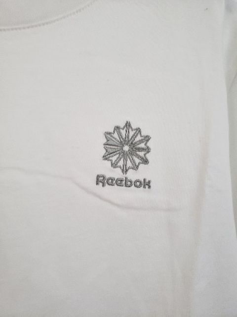 Reebok リーボック 半袖 Tシャツ ホワイトマーク 刺繍 M < ブランドの