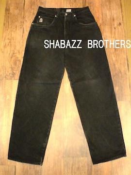 □SHABAZZ BROTHERS ブラック デニム/W32☆ストリート,HIPHOP☆SALE破格☆