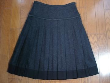 ★クリアインプレッション ボックスプリーツウールスカート★
