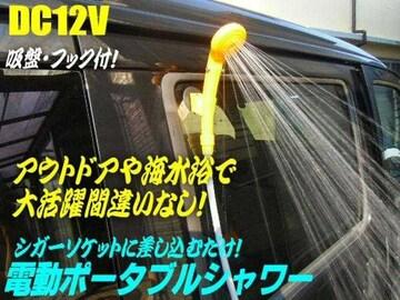 12vシガー/携帯電動ポータブルシャワー・洗車/キャンプ/海水浴に