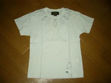 ネイバーフッドNEIGHBORHOODカットソー白MステッチTシャツ刺繍