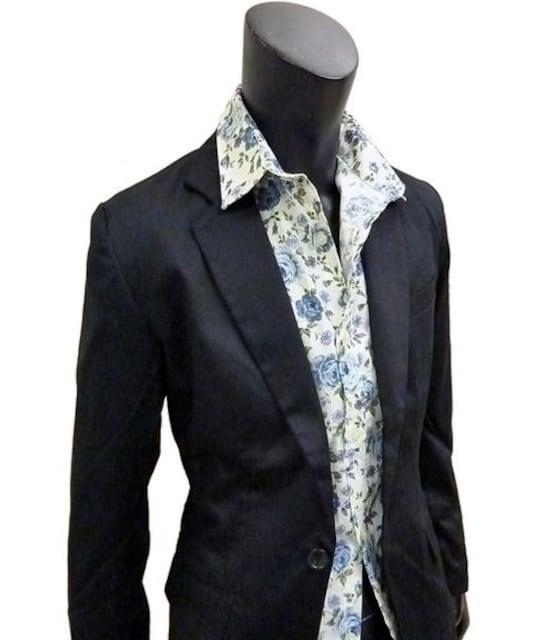 ノッチドラペル1Bテーラードジャケット ブラック M [137008] < 男性ファッションの