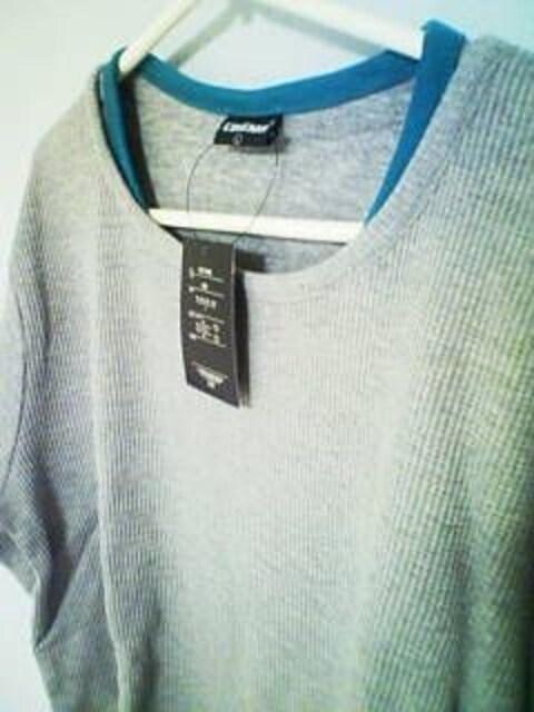Aー564☆新品☆無地サーマルロンT グレー M < 男性ファッションの