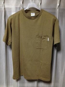 古着ヴィンテージ CLASSIC �U ポケット 無地半袖Tシャツ Sサイズ カーキ茶 USA製