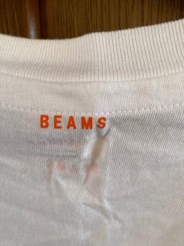 beamsビームスヘインズHanes白ホワイトTシャツ別注赤ラベル限定