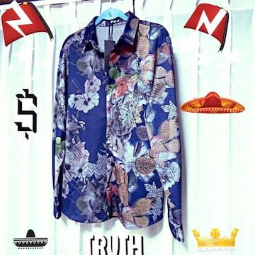 KTRのドレスシャツ(XL)ネイビー !。