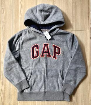 新品GAP☆130 ロゴ ジップパーカー グレー ギャップ