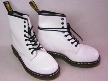 ドクターマーチンDrMartens新品8ホールブーツ1460WHITE白