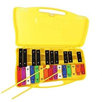 黄色 Ennbom 鉄琴 子供用 カラフル 25音 オルフ楽器