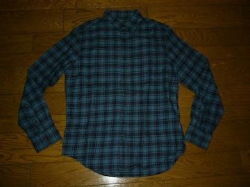 新品AMERICAN EAGLEアメリカンイーグルチェックシャツM青系