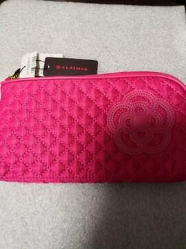 新品 CLATHAS  クレイサス キルティング マスク ケース ピンク