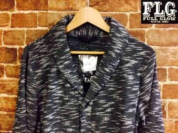 表記XL/新品!ネイティブ系 スラブ織り ショールカラー ニット カーディガン 灰色 ロック