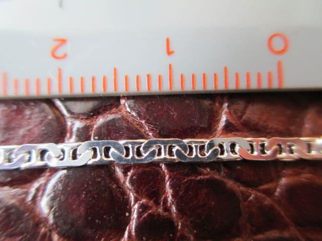 イタリア製シルバー925チェーン 2.1mm 50cm 4.6g*FlatMarine060 < 男性アクセサリー/時計の