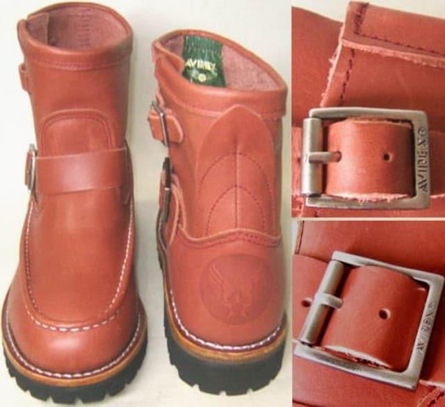 アビレックスAVIREX新品ショート エンジニア ブーツ2535RB 9.5 < 男性ファッションの