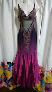高級グラデーション マーメイド ロングドレス