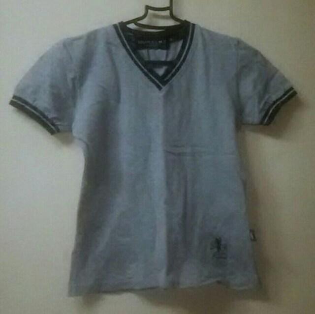 used★カノコ生地のvネックショート丈TシャツM  < 女性ファッションの