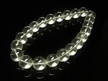 成功運をもたらす 本水晶クリスタル数珠ネックレス 大玉20ミリ