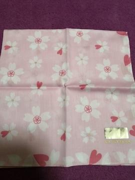 新品 CLATHAS  クレイサス 大判 ハンカチ 桜 ピンク