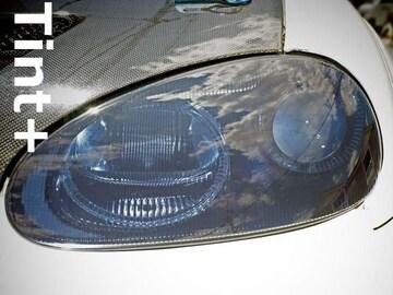Tint+再利用OK カプチーノ EA11R系ヘッドライト スモークフィルム