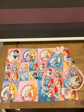 ディズニー プリンセス ランチョンマット コップ袋 ハンドメイド