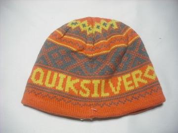 mb890 男 QUIKSILVER クイックシルバー ニット帽 オレンジ