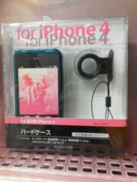 未使用エレコムiPhone4ハードケース(クリアブルー)