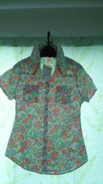 新品♪CO&LU 花柄♪シャツ