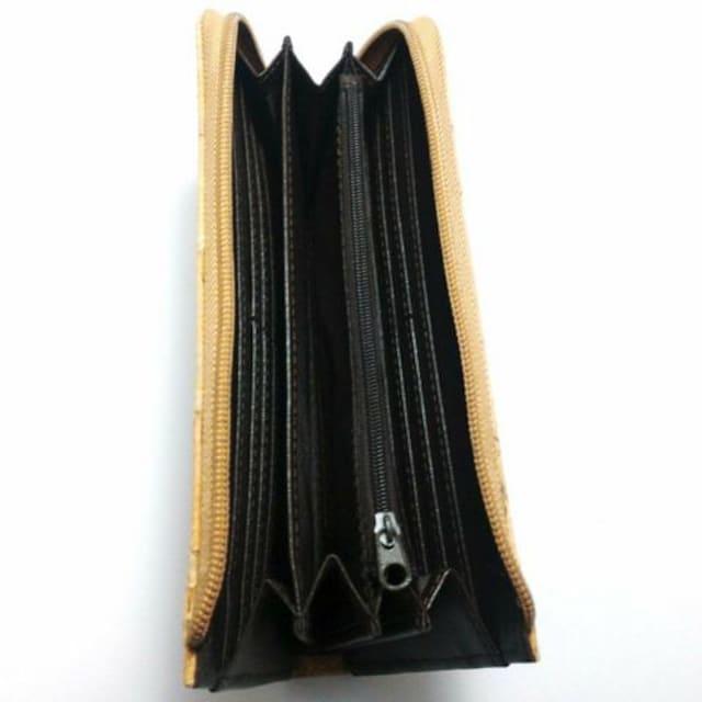 特価 ノルディックライト コルク素材長財布 ライン柄 ブラウン < 男性ファッションの