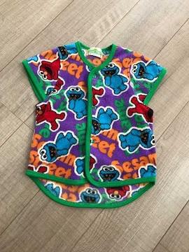 美品エルモ暖かベスト100フリース羽織りセサミストリート