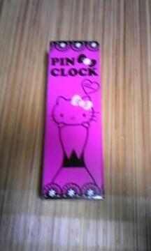 ハローキティ ピン型時計 ピンク 非売品
