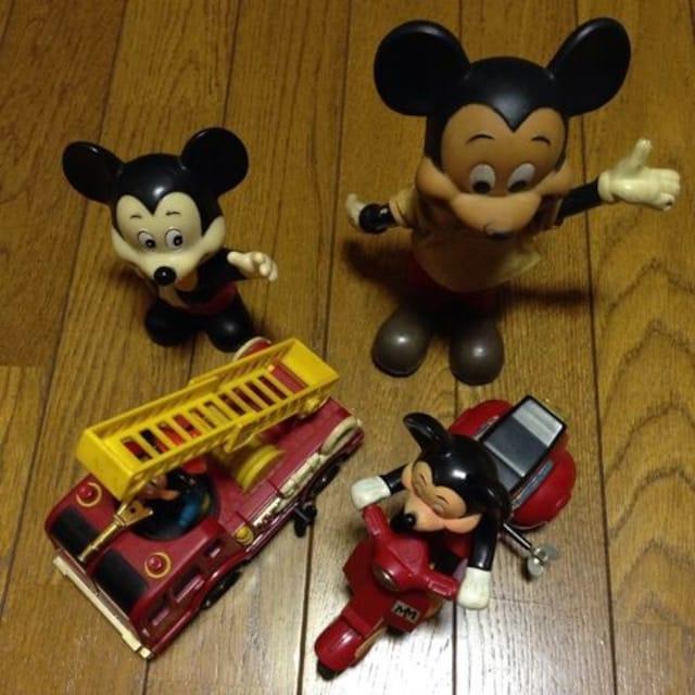 ヴィンテージ ミッキー フィギュア 4点セット レア  < おもちゃの