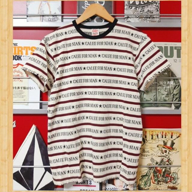 定価8640円 CALEE ジャガード ロゴボーダー Tシャツ S ケンコバ着用  < ブランドの