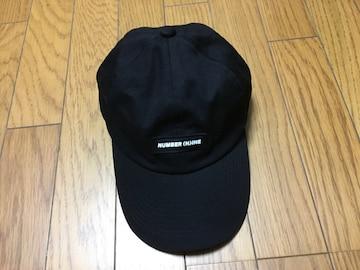 中古ナンバーナインデニム黒キャップ帽子フリーサイズ