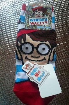 ウォーリーを探せ靴下A 23〜25 新品